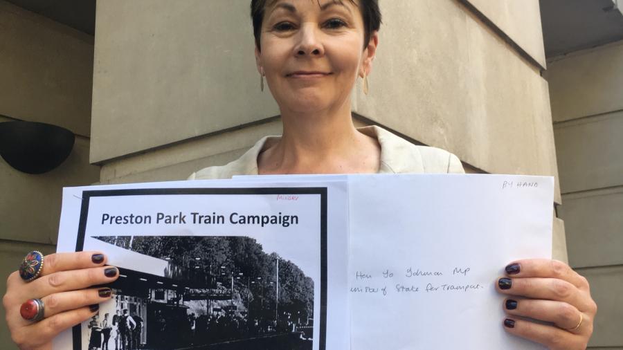 Delivering Preston Park dossier to Department of Transport